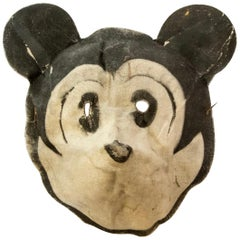 Rare Linen Child's Mickey Mouse Mask, circa 1935