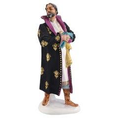 Rare Lomonosov Porcelain Figurine, F. I. Chaliapin in the Role of Boris Godunov