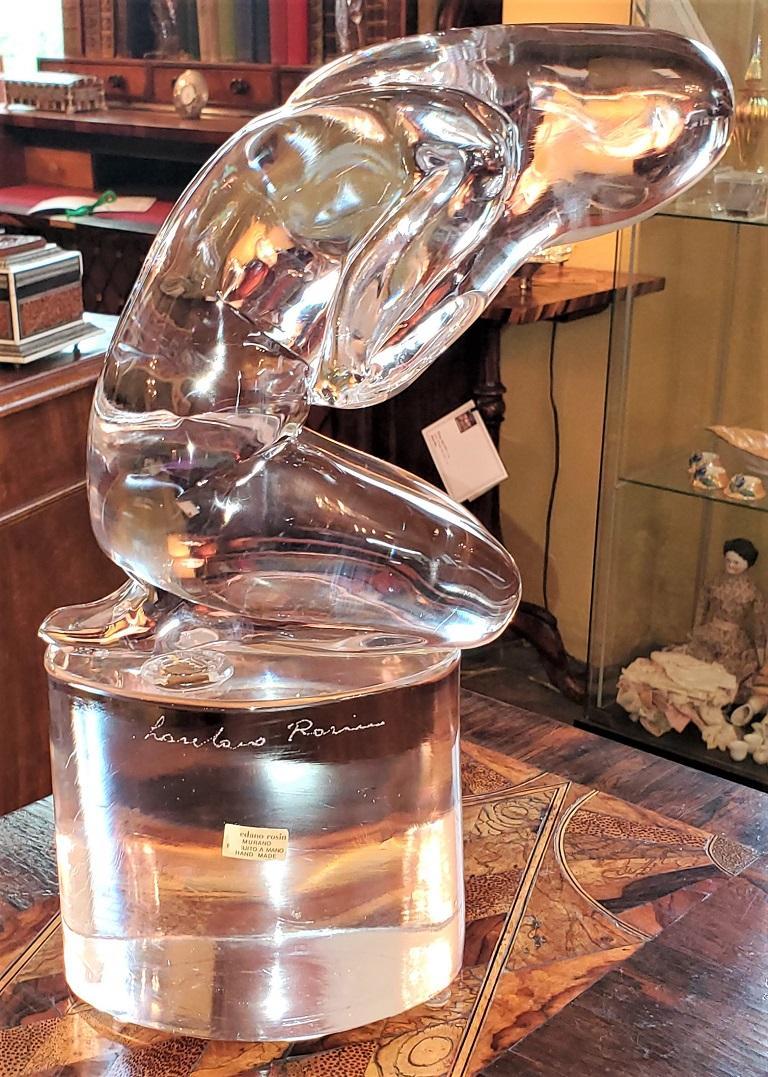 Rare Loredano Rosin Murano Glass Sculpture For Sale 2