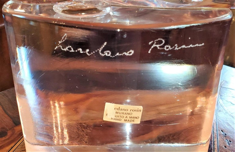 20th Century Rare Loredano Rosin Murano Glass Sculpture For Sale