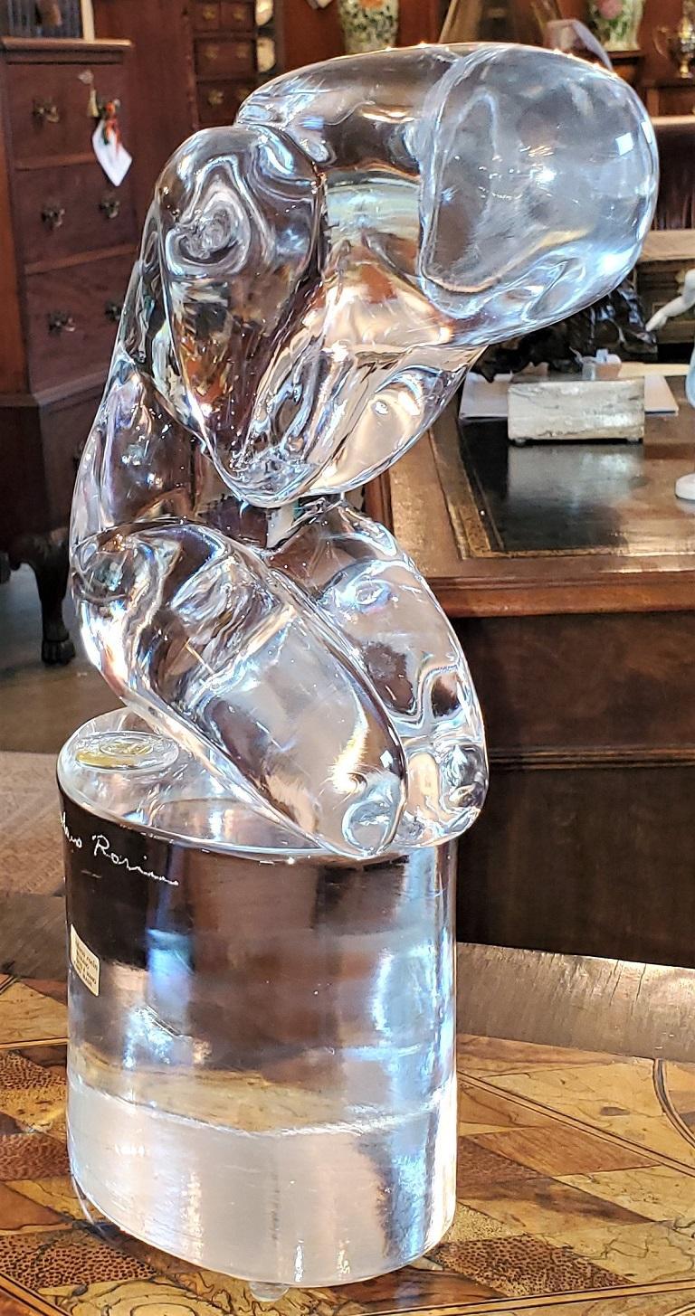 Art Glass Rare Loredano Rosin Murano Glass Sculpture For Sale