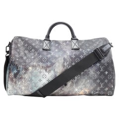 rare LOUIS VUITTON 2019 Keepall 50 Bandouliere Galaxy Cosmic monogram travel bag