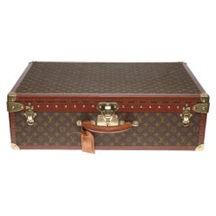 Rare Louis Vuitton 70 Suitcase in brown monogram canvas