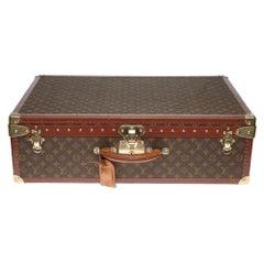 Rare Louis Vuitton 70 Suitcase in brown monogram canvas