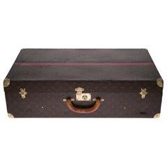Rare Louis Vuitton 75 Suitcase in brown monogram canvas