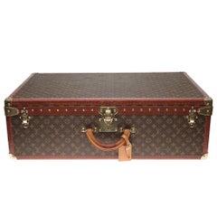Rare Louis Vuitton 80 Suitcase in brown monogram canvas