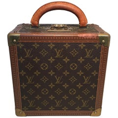 RARE Louis Vuitton Custom Monogram Square Travel Jewelry Case with 4 Trays