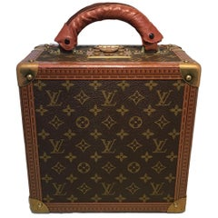 RARE Louis Vuitton Custom Monogram Travel Jewelry Case with Purple Ultrasuede