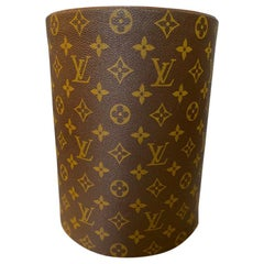 Rare Louis Vuitton Executive Desk Accessory Waste Paper Bucket
