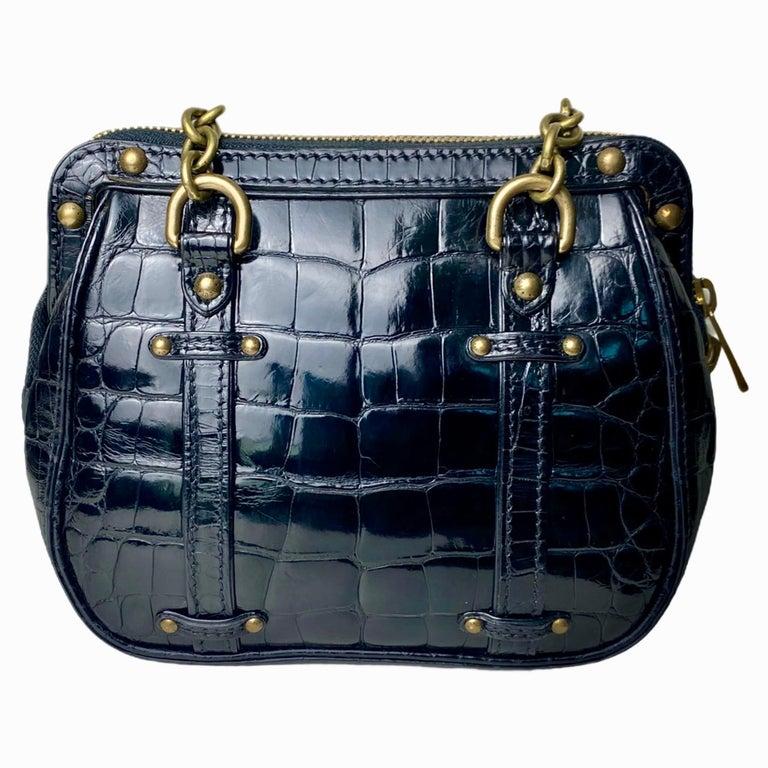 Women's RARE Louis Vuitton Exotic Black Alligator