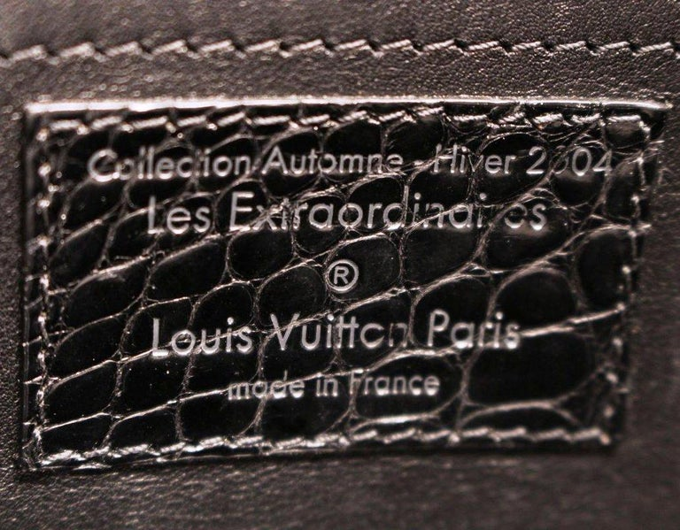 RARE Louis Vuitton Exotic Black Alligator