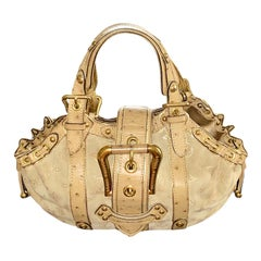 Rare Louis Vuitton Suede Ostrich Skin LV Monogram Handbag Bag Purse