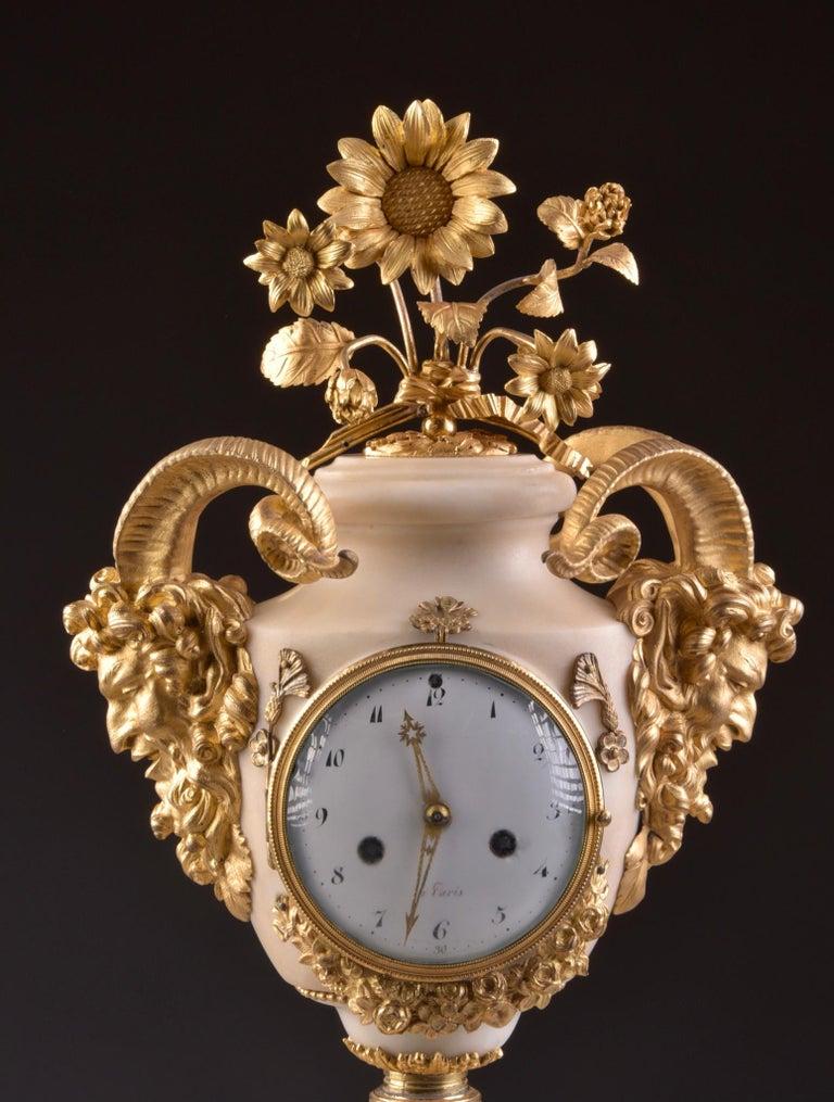 French Rare Louis XVI Mantel Clock
