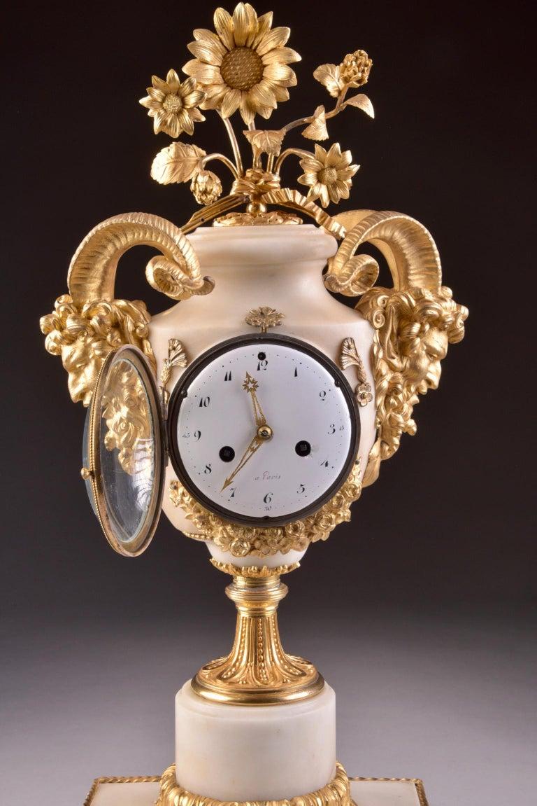 18th Century Rare Louis XVI Mantel Clock