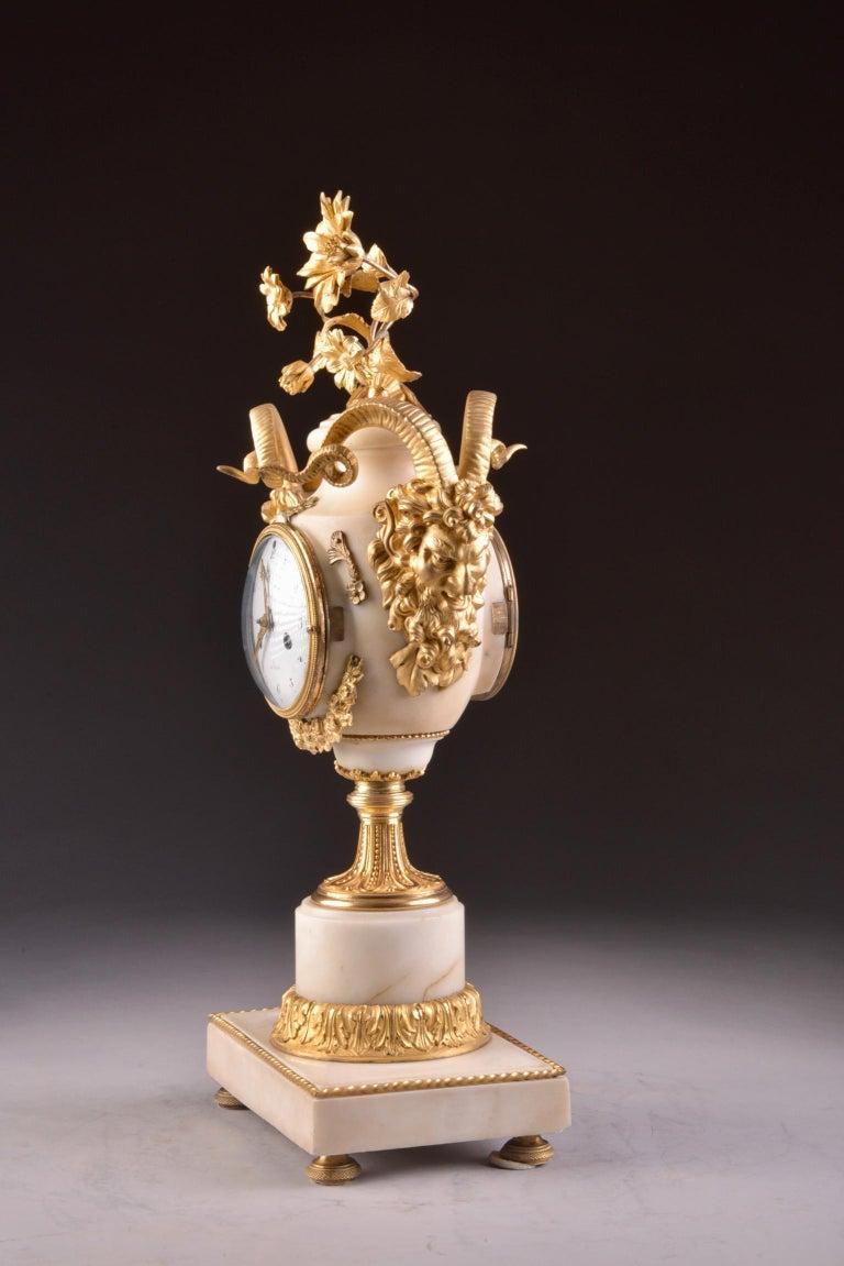 Marble Rare Louis XVI Mantel Clock