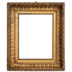 Rare Louis XVI Period Carved Giltwood Frame, Mirror, France, Late 18th Century