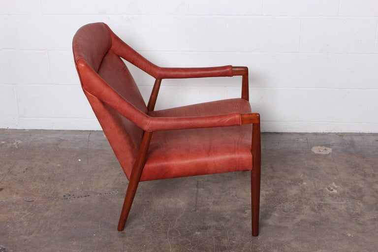 Rare Lounge Chair by Ib Kofod-Larsen For Sale 1
