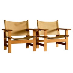 Rare Lounge Chairs by Borge Mogensen for Fredericia