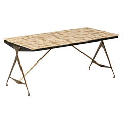 Rare Low Table by Max Ingrand for Fontana Arte
