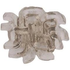 "Rare ""Lyra"" Pattern Kalmar Ice Glass Sconce"