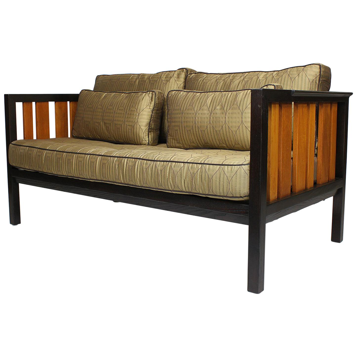 Rare Mahogany and Ash Loveseat, Settee Designed by Edward Wormley for Dunbar