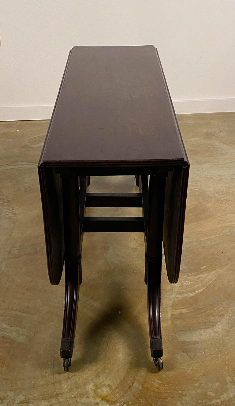 Rare Mahogany Cumberland Action Dining Table Possibly Duncan Phyfe Workshop For Sale 5
