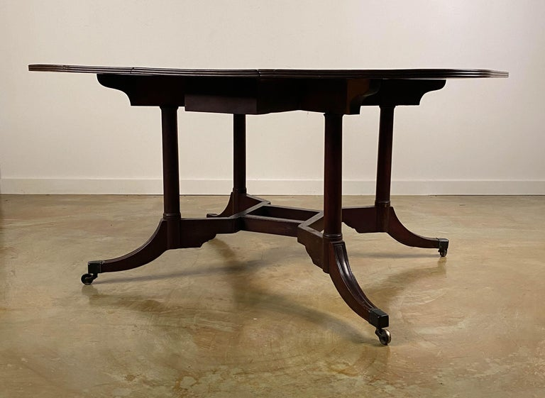 18th Century and Earlier Rare Mahogany Cumberland Action Dining Table Possibly Duncan Phyfe Workshop For Sale