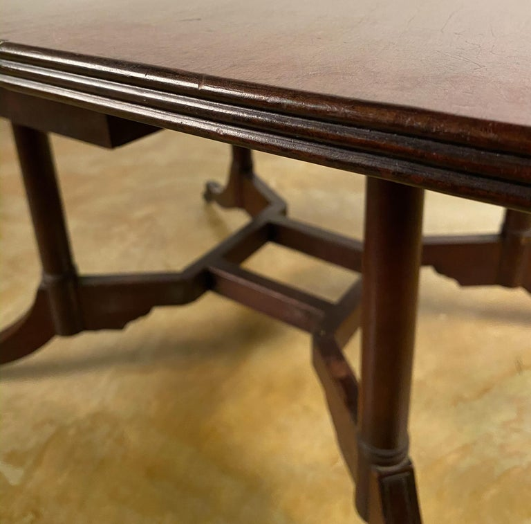 Rare Mahogany Cumberland Action Dining Table Possibly Duncan Phyfe Workshop For Sale 2