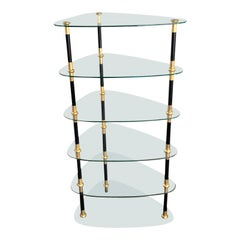 Rare Maison Jansen Black & Gold Étagère Whatnot Table