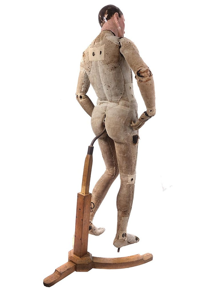 This rare male full size mannequin is attributed to Francois-Pierre Guillois, late 18th-early 19th century. There hasn't been much information regarding this particular type of lay figure, indeed these are exceptionally rare, until fairly recently