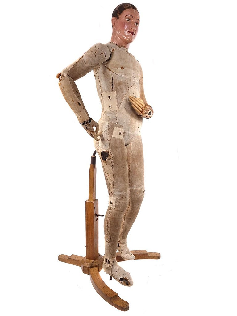 Industrial Rare Male Mannequin Attributed to Francois-Pierre Guillois For Sale