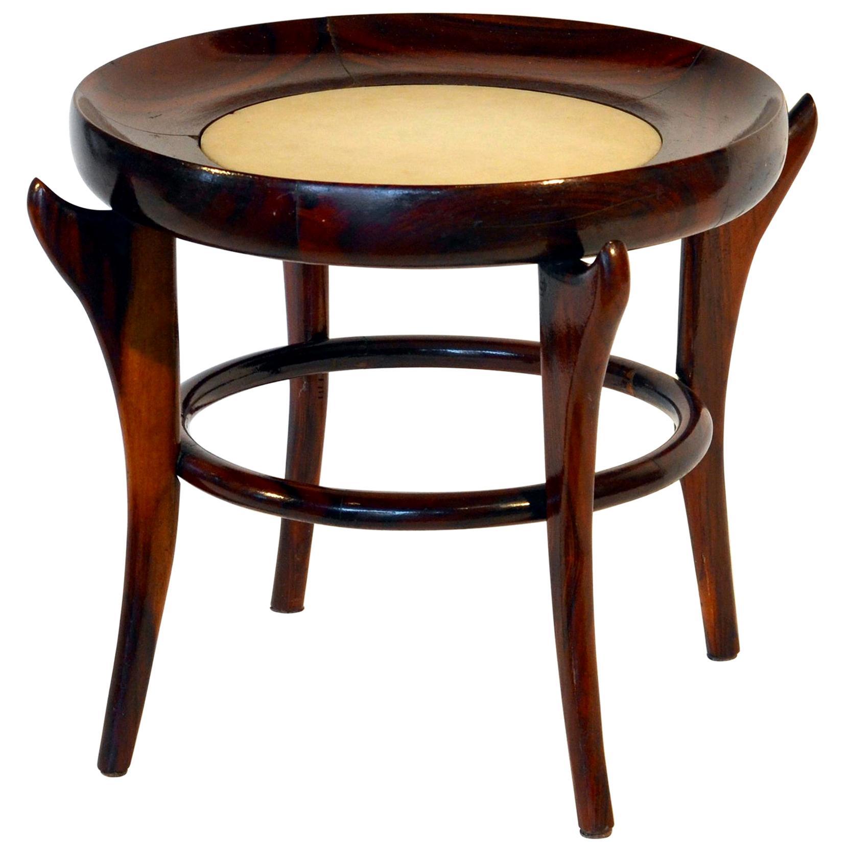 Rare 'Maracana' Brazilian Jacaranda Side Table by Guiseppe Scapinelli