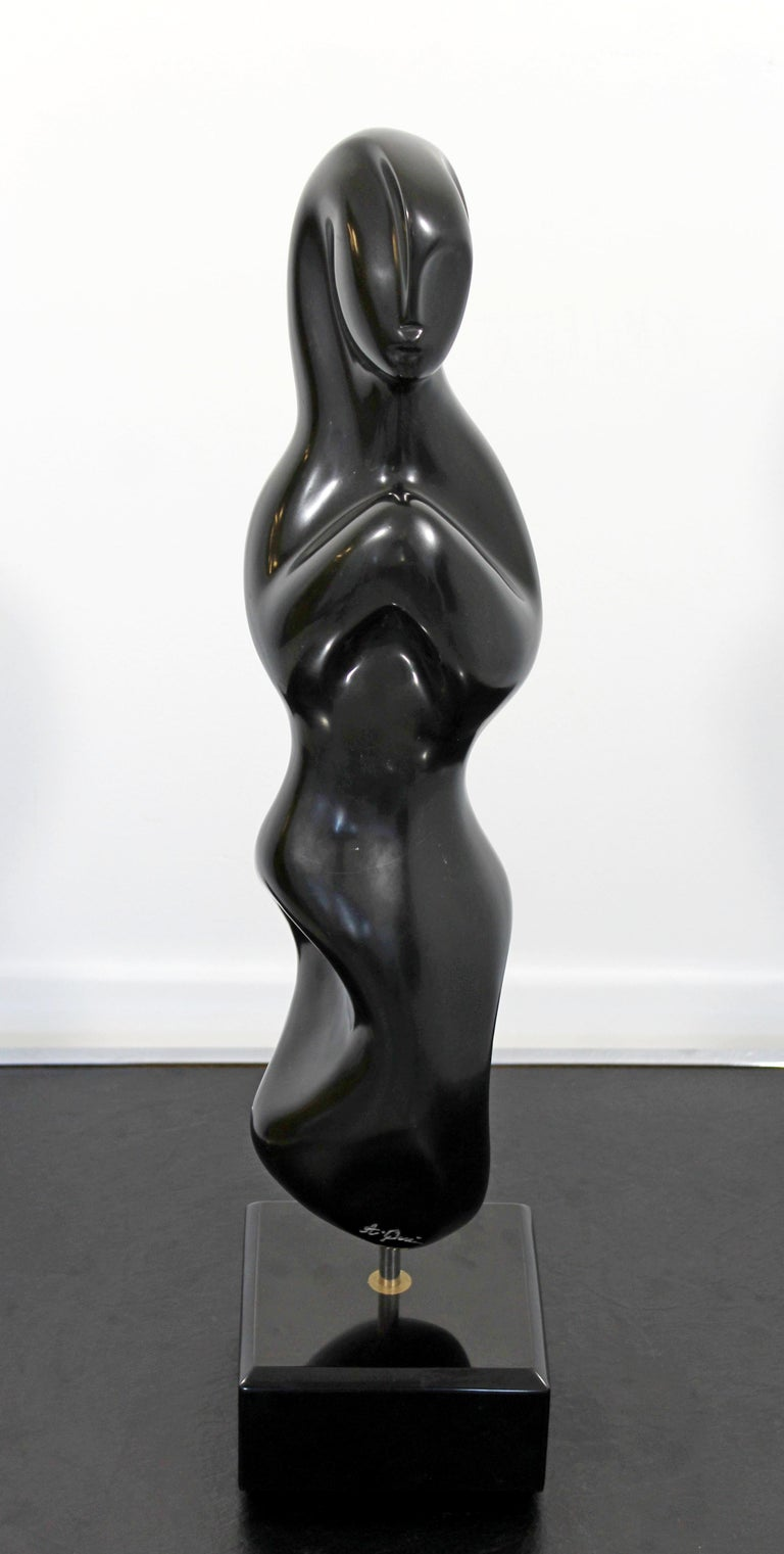 North American Rare Marble Table Sculpture Signed Anthony Quinn Called Tatiana For Sale