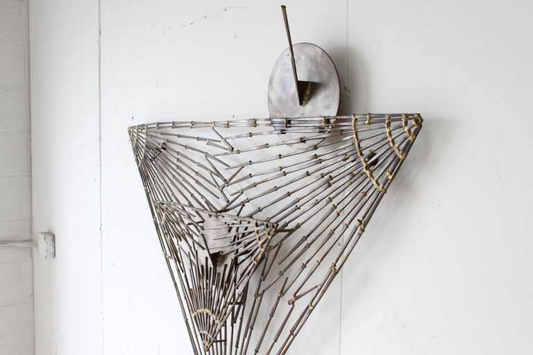 Rare Marc Weinstein Mid-Century Modern Brutalist Nail Sculpture of Martini Glass In Good Condition For Sale In St. Louis, MO