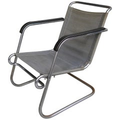 Rare Marcel Breuer BT-24 Armchair by Metz En Co Thonet, Netherlands, 1931