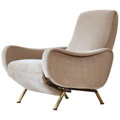 Rare Marco Zanuso Reclining Lady Chair, Pizetti Roma, Italy, 1960s
