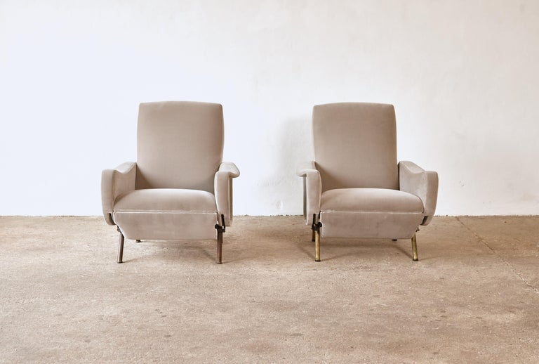 Rare Marco Zanuso Reclining Lady Chairs, Pizetti Roma, Italy, 1960s For Sale 3