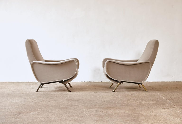 Italian Rare Marco Zanuso Reclining Lady Chairs, Pizetti Roma, Italy, 1960s For Sale