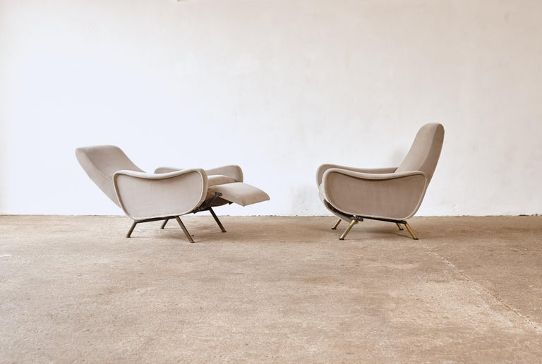 Rare Marco Zanuso Reclining Lady Chairs, Pizetti Roma, Italy, 1960s In Good Condition For Sale In London, GB