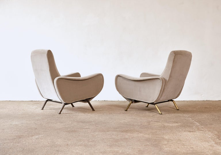 20th Century Rare Marco Zanuso Reclining Lady Chairs, Pizetti Roma, Italy, 1960s For Sale