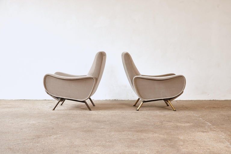Rare Marco Zanuso Reclining Lady Chairs, Pizetti Roma, Italy, 1960s For Sale 1