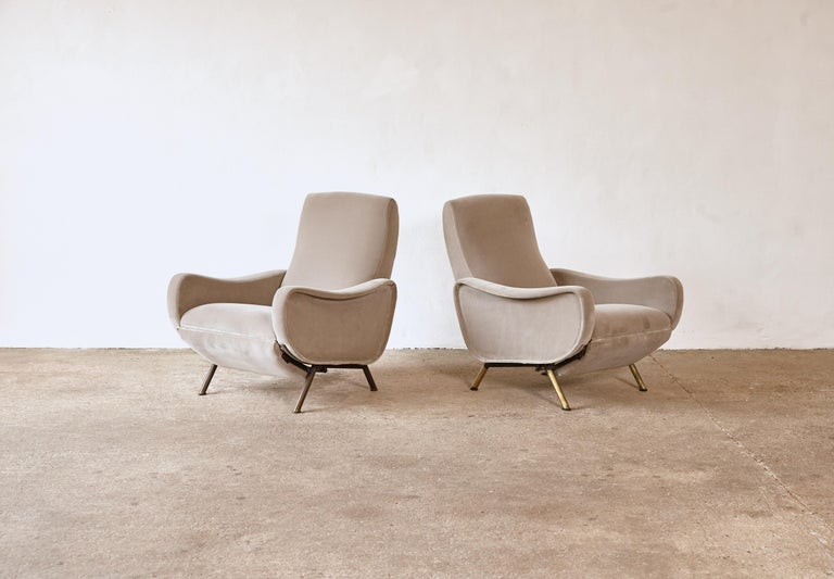 Rare Marco Zanuso Reclining Lady Chairs, Pizetti Roma, Italy, 1960s For Sale 2