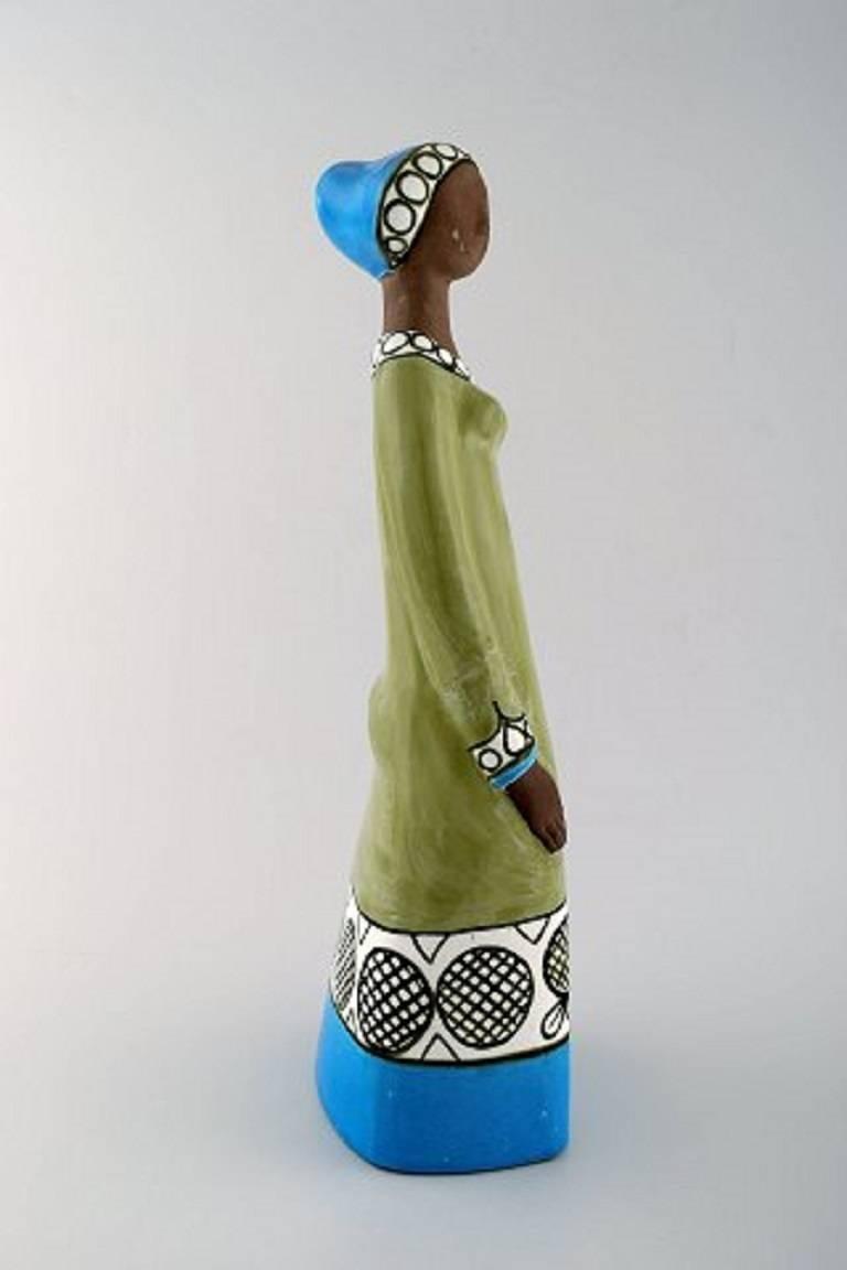 Swedish Rare Mari Simmulson Figure of Woman, Ceramics, Upsala-Ekeby For Sale