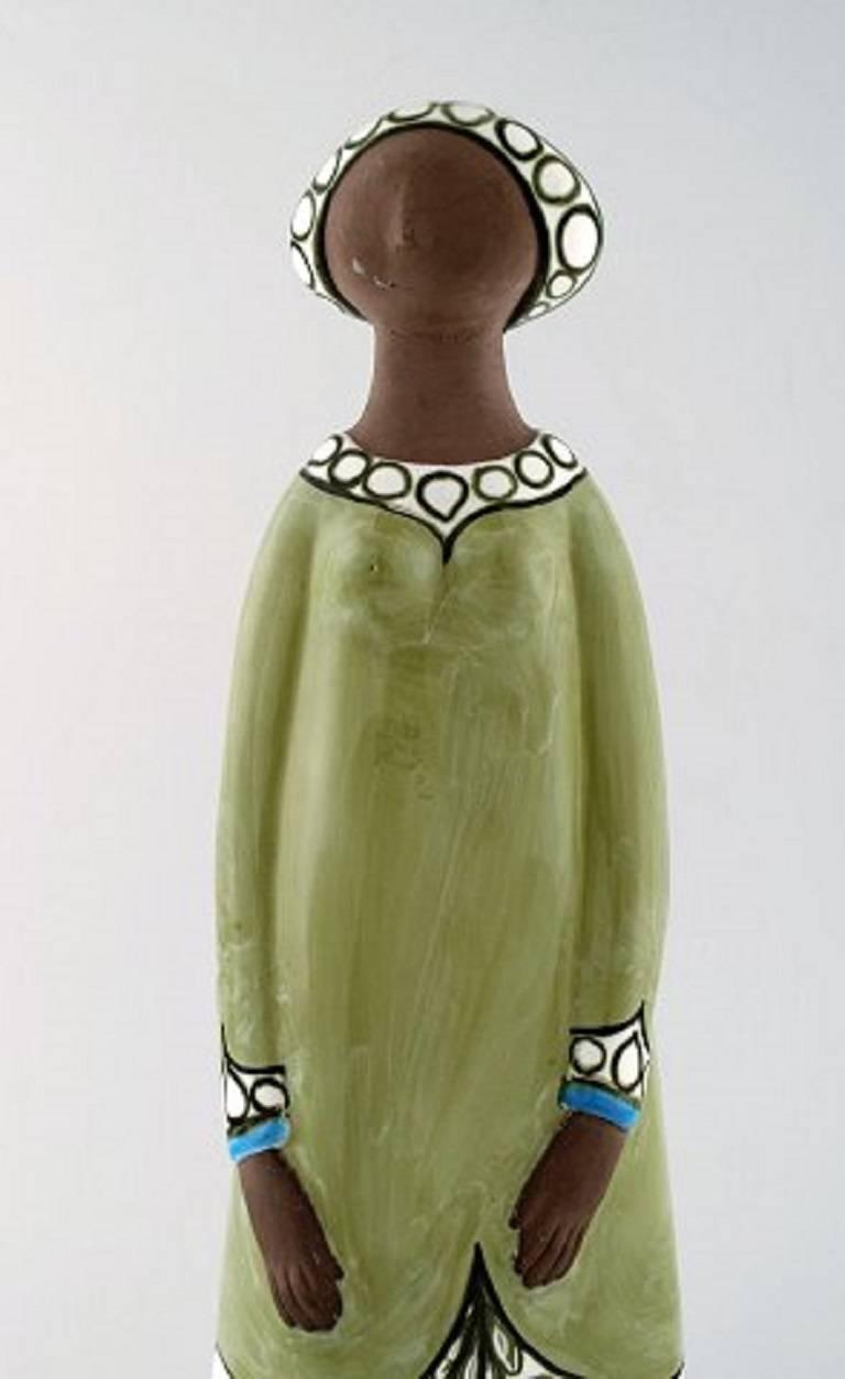 Rare Mari Simmulson Figure of Woman, Ceramics, Upsala-Ekeby In Excellent Condition For Sale In Copenhagen, Denmark