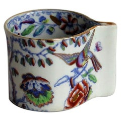 Rare Mason's Ironstone Coffee Can or Cup in Flying Bird Pattern, circa 1890