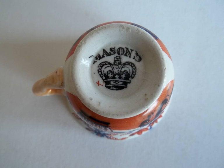 Rare Mason's Ironstone Miniature Cup Japan Basket Pattern, circa 1825 For Sale 3