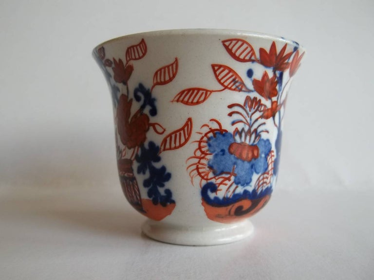 English Rare Mason's Ironstone Miniature Cup Japan Basket Pattern, circa 1825 For Sale