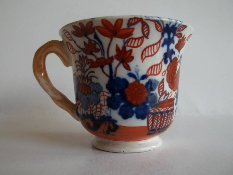 Hand-Painted Rare Mason's Ironstone Miniature Cup Japan Basket Pattern, circa 1825 For Sale