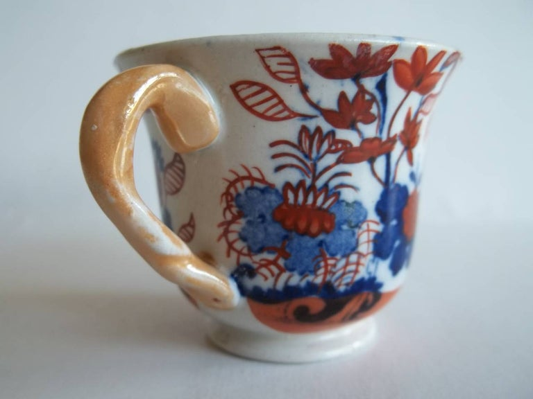 Rare Mason's Ironstone Miniature Cup Japan Basket Pattern, circa 1825 In Good Condition For Sale In Lincoln, Lincolnshire