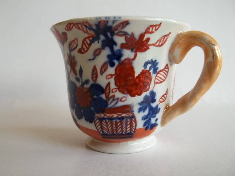 Early 19th Century Rare Mason's Ironstone Miniature Cup Japan Basket Pattern, circa 1825 For Sale